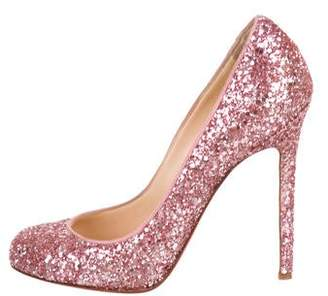 4178d34523ca Christian Louboutin Round-Toe Glitter Pumps