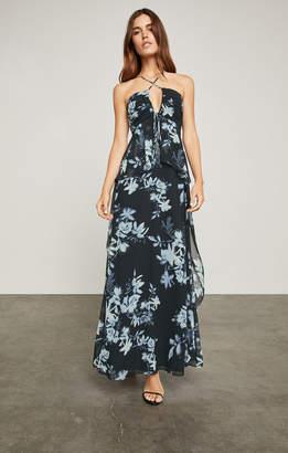 BCBGMAXAZRIA Silhouette Floral Maxi Dress