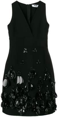 MSGM deep-V embellished dress