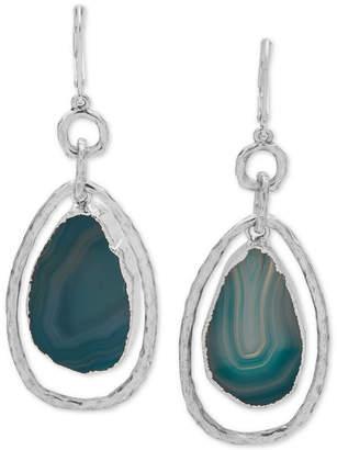 lonna & lilly Silver-Tone Stone Orbital Drop Earrings
