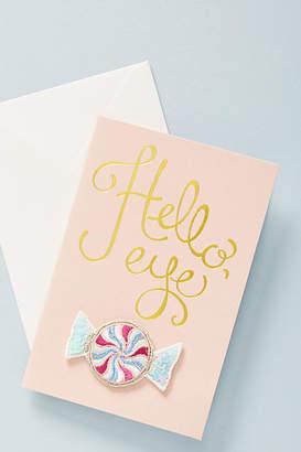 Anthropologie Hello, Eye Candy Sticker Patch + Card