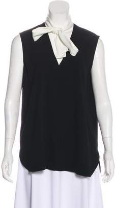 Paule Ka Bow-Accented Sleeveless Top
