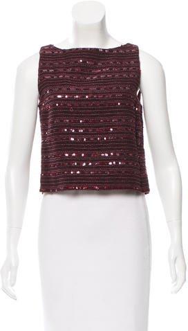 Chanel Sequin-Embellished Crop Top