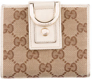 GucciGucci GG Canvas Abbey Compact Wallet