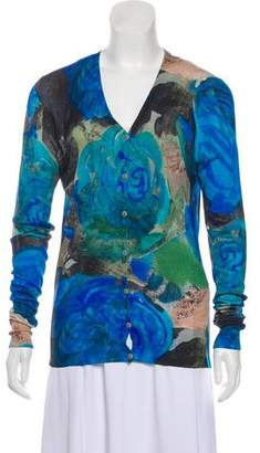 Christopher Kane Printed Button-Up Cardigan