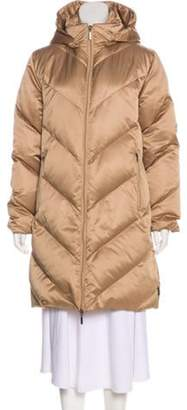 Moncler Hooded Down Coat Bronze Hooded Down Coat