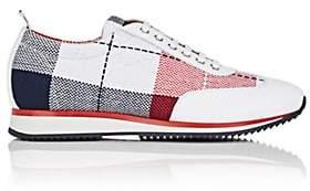 Thom Browne Men's Tweed & Leather Sneakers-White, Red