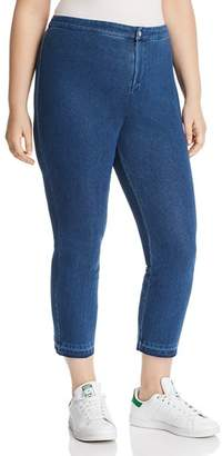 Lysse Plus Cigarette-Leg Jeans in Mid Wash