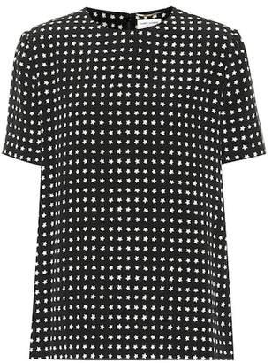 Saint Laurent Star-printed silk top