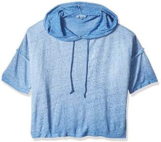 Margaritaville Women's Short Sleeve Relaxed Linen Hoodie