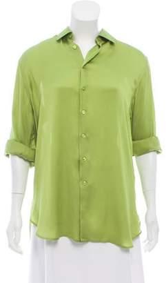 Ralph Lauren Silk Button-Up Top