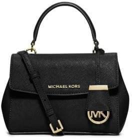 MICHAEL MICHAEL KORS Ava Leather Crossbody Satchel Bag $178 thestylecure.com