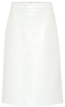 Prada Leather midi skirt