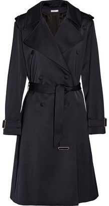 Lanvin - Satin Trench Coat - Midnight blue $2,285 thestylecure.com