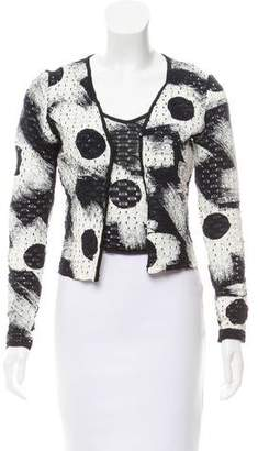 Christian Dior Coated Open Knit Cardigan Set