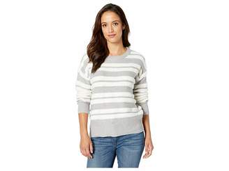 Vince Camuto Long Sleeve Loop Stripe Crew Neck Sweater