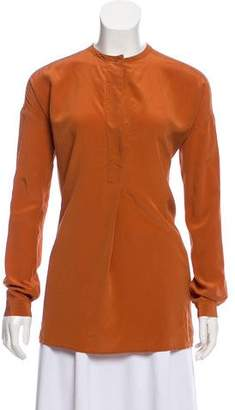 Vince Long Sleeve Silk Top