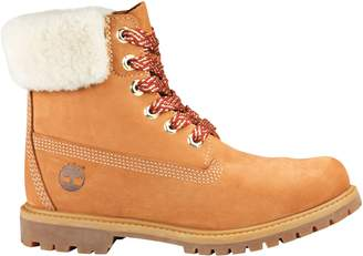 Timberland Women's Icon Shearling Collar Waterproof Leather Boots