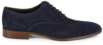 Bruno Magli Caymen Perforated Suede Oxfords