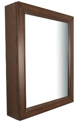 RazorEdge Bellaterra Home Mirror Cabinet, Sable Walnut - 24 in.