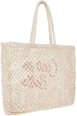 Accessorize Ciao Bella Crochet Tote - Natural