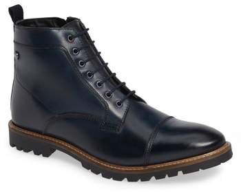 Base London Lugged Cap Toe Boot
