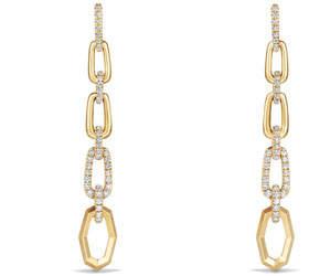 David Yurman Stax 18k Convertible Chain Link Earrings