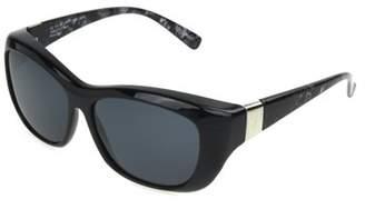 SOLAR SHIELD Solar Shield Unisex Black Polarized Solarshield Sunglasses Sa04