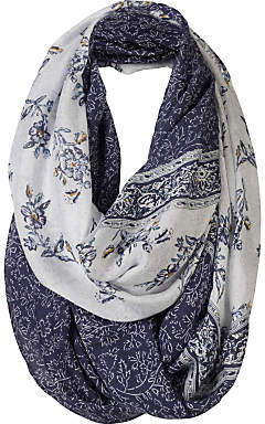 Fat Face Persian Floral Two Part Snood, Navy/White