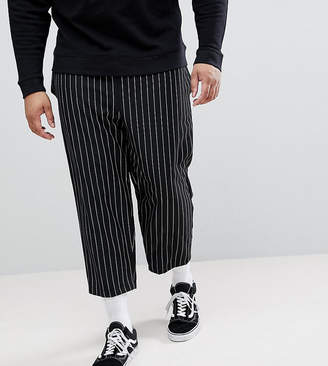 Reclaimed Vintage Inspired Relaxed Cropped PANTS In Stripe