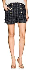 Balmain WOMEN'S TWEED SAILOR SHORTS - NAVY SIZE 44