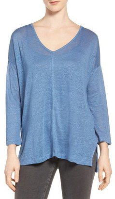 Women's Two By Vince Camuto Seam Detail Linen Tee $59 thestylecure.com