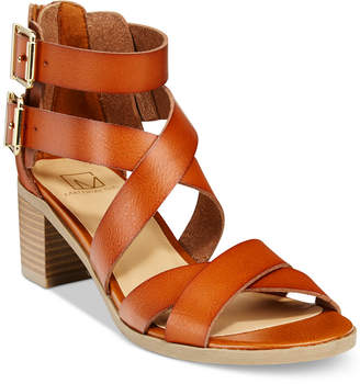 Material Girl Danee Block Heel City Sandals, Only at Macy's Women's Shoes $59.50 thestylecure.com