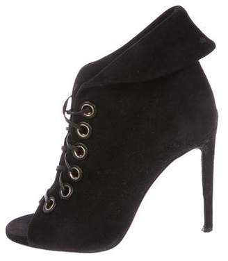 Aquazzura Suede Lace-Up Booties