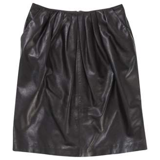Saint Laurent Navy Leather Skirts