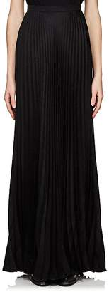Saint Laurent Women's Pleated Silk Maxi Skirt