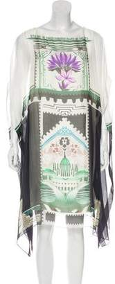Mary Katrantzou Graphic Silk Knee-Length Dress