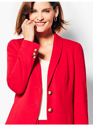 Talbots Italian Luxe Knit Two-Button Blazer