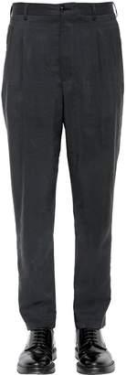 Giorgio Armani 17cm Washed Silk Blend Twill Pants