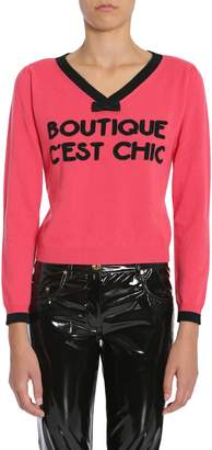 Moschino V Collar Sweater