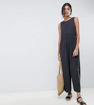 Asos Tall DESIGN Tall minimal jumpsuit with ruching detail