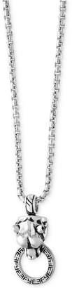 Effy Men Panther Doorknocker Pendant Necklace in Sterling Silver