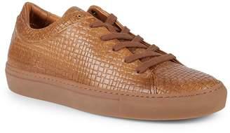 Aquatalia Men's Alaric Striped Embossed Leather Sneakers