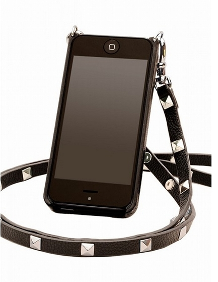 BANDOLIER Leather IPhone 5 Case With Silver Studded Strap