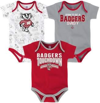 NCAA Kohl's Baby Wisconsin Badgers Playmaker 3-Pack Bodysuit Set