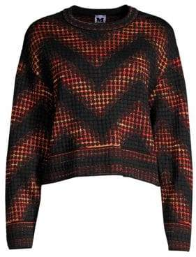 M Missoni Textured Mixed-Print Chevron Sweatshirt