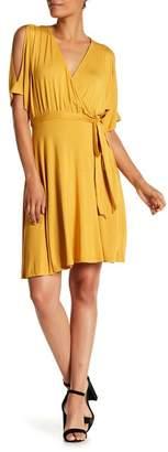 WEST KEI Cold Shoulder Wrap Dress