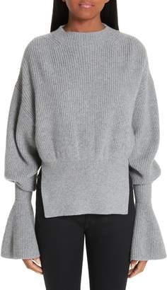 Alexander Wang Side Split Merino Wool & Cashmere Blend Sweater