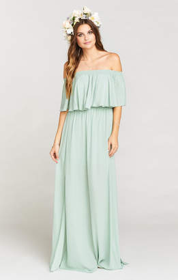 Show Me Your Mumu Hacienda Maxi Dress ~ Dusty Mint Crisp