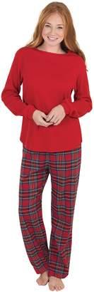 PajamaGram Soft Cotton Pullover Plaid Flannel Womens Pajamas, Stewart, MD (8-10)
